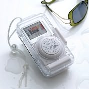Product Image. Title: IPod MP3 Splashproof Speaker Case - Clear