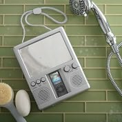 Product Image. Title: MP3 Shower Radio - Silver