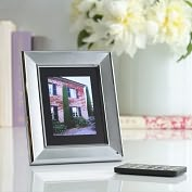 "Product Image. Title: Digital Foci Image Moments 6"" Digital Photo Frame - Silver"