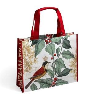 Holly Bird Woven Tote Bag (15