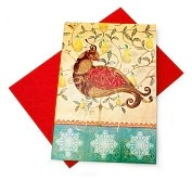 Product Image. Title: Elegant Partridge Tip On Christmas Boxed Card