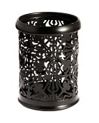 "Product Image. Title: Black Decorative Metal Pencil Cup ( 4.5"")"