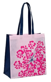 Navy and Pink floral Tote by  Smudge Ink