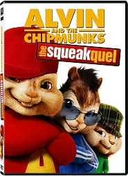 Alvin and the Chipmunks: The Squeakquel starring Zachary Levi: DVD Cover