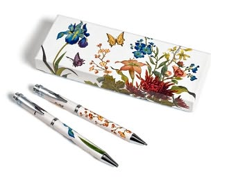 Floral Garden Pen & Mechanical Pencil Set in Gift Box by Ron Huw Industries Co, Ltd.: Product Image