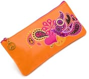 "Product Image. Title: Jonathan Adler Love Dove Embroidered Pencil Pouch (4""x9"")"