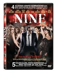 Nine starring Daniel Day-Lewis: DVD Cover
