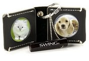 Product Image. Title: Chelsea Black Photo Key Chain
