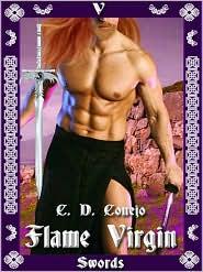 C. D. Conejo - Flame Virgin [Tarot Series 5 of Swords]