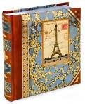 Product Image. Title: Eiffel Tower Foiled Two Up Photo Album