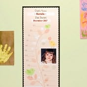 Product Image. Title: Growth Chart - Pink Little Birdie