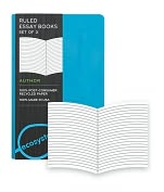 Product Image. Title: Ecosystem 100% Recycled Essay Ruled Lagoon Journal (3.6''x5.6') Set of 3