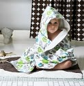 Product Image. Title: Hooded Towel - Owls
