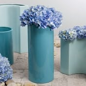 Product Image. Title: Large Cylinder Vase Cool Blue
