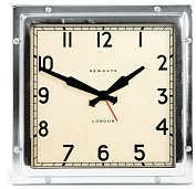 Product Image. Title: Chrome Quad Alam Clock