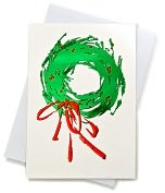 Product Image. Title: Unicef Contemporary Wreath Boxed Card