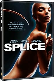 Splice starring Adrien Brody: DVD Cover