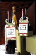 Product Image. Title: Three Designing Women Green Trellis Wine Bottle Tags