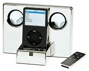 Product Image. Title: Polished Silver MP3-Player with Remote Control