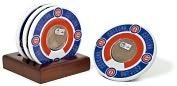 Product Image. Title: Chicago Cubs Coasters with Game Used Dirt - Set of 4
