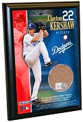 Product Image. Title: Clayton Kershaw, LA Dodgers - 4x6 Plaque with Game Used Dirt