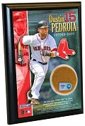 Product Image. Title: Dustin Pedroia, Boston Red Sox - 4x6 Plaque with Game Used Dirt