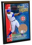 Product Image. Title: Alfonso Soriano, Chicago Cubs - 4x6 Plaque with Game Used Dirt