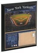 Product Image. Title: Original Yankee Stadium 8x10 Plaque with Game Used Dirt