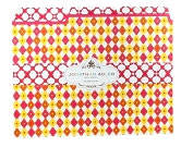 Product Image. Title: Jonathan Adler Diamond Print File Folders