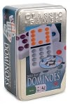 Product Image. Title: Double 12 Color Dot Mexican Train Dominoes Tin