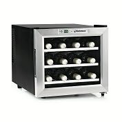 Product Image. Title: Stainless Steel Silent 12 Bottle Wine Refrigerator