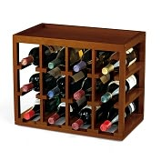 Product Image. Title: 12 Bottle Cube-Stack Wine Rack in Walnut Stain