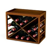 Product Image. Title: 12 Bottle X Cube-Stack Wine Rack in Walnut Stain