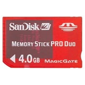Product Image. Title: SanDisk 4GB Gaming Memory Stick PRO Duo