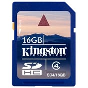 Product Image. Title: Kingston 16GB Secure Digital High Capacity (SDHC) Card - Class 4