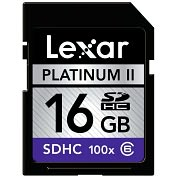 Product Image. Title: Lexar Media Platinum II LSD16GBSBNA100 16 GB Secure Digital High Capacity (SDHC) - 1 Card