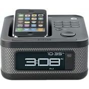 Product Image. Title: Memorex 2169 Desktop Clock Radio - Stereo - Apple Dock Interface