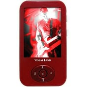 Product Image. Title: Visual Land V-Motion Pro ME-964 4 GB Red Flash Portable Media Player