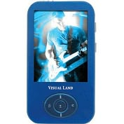 Product Image. Title: Visual Land V-Motion Pro ME-964 4 GB Blue Flash Portable Media Player