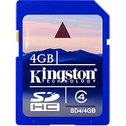 Product Image. Title: Kingston 4GB Secure Digital High Capacity Card (Class 4)