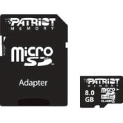 Product Image. Title: Patriot Memory 8GB Patriot Signature microSD High Capacity (microSDHC) Card - Class 4