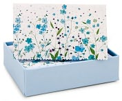 Product Image. Title: Blue Flowers Thank You Notes Set Of 14
