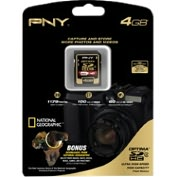 Product Image. Title: PNY 4GB Secure Digital High Capacity (SDHC) Card - Class 4