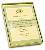 Product Image. Title: Baby Deluxe Imprintable Invitation and Announcement Kit