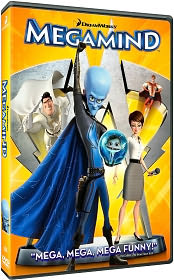 MegaMind starring Will Ferrell: DVD Cover