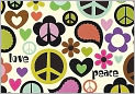 Product Image. Title: Peace Out Note Card Set of 14