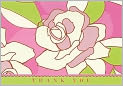 Product Image. Title: Contemporary Roses Thank You Notes Set of 14