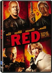 Red starring Bruce Willis: DVD Cover
