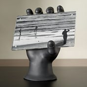 Product Image. Title: Hand 4x6 Photo Holder Black