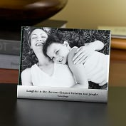 Product Image. Title: Laughter Metal Base Quote Frame 4x6